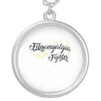 Fibromyalgia Awareness Symptoms Silver Plated Necklace