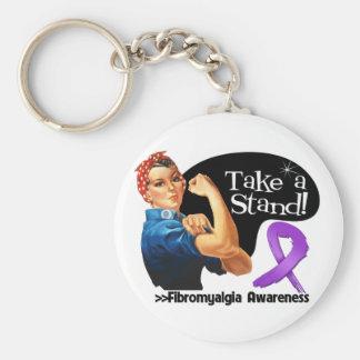 Fibromyalgia Awareness Take a Stand Basic Round Button Keychain