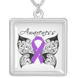 Fibromyalgia Awareness Tattoo Butterfly Custom Jewelry