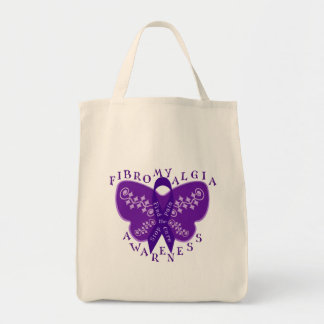 Fibromyalgia Awareness Tote Bag -Shopping