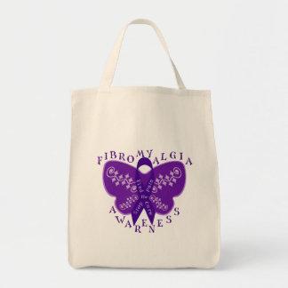 Fibromyalgia Awareness Tote Bag -Shopping