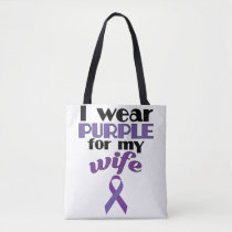 Fibromyalgia Awareness Tote for Husband Wife