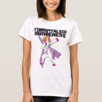 Fibromyalgia Awareness Unicorn T-Shirt Fibro Day