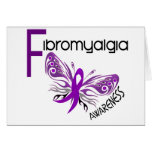 Fibromyalgia BUTTERFLY 3 Greeting Card