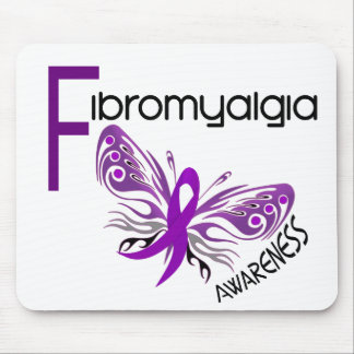 Fibromyalgia BUTTERFLY 3 Mouse Pad