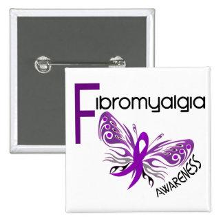 Fibromyalgia BUTTERFLY 3 Pinback Button