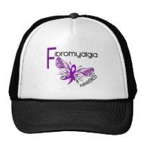 Fibromyalgia BUTTERFLY 3 Trucker Hat