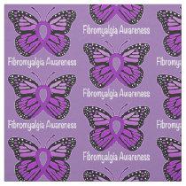 Fibromyalgia Butterfly Awareness Ribbon Fabric