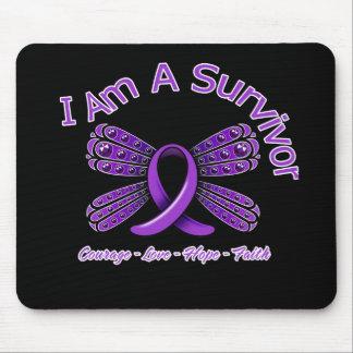 Fibromyalgia  Butterfly I Am A Survivor Mouse Pad