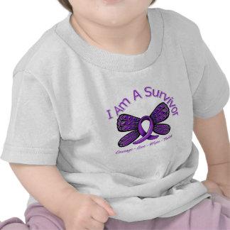 Fibromyalgia  Butterfly I Am A Survivor Tee Shirts
