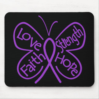 Fibromyalgia Butterfly Inspiring Words Mousepads