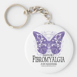 Fibromyalgia Butterfly Keychain