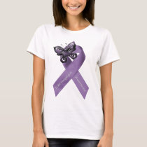 Fibromyalgia Butterfly Ribbon Clothing T-Shirt
