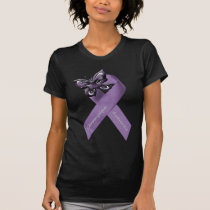 Fibromyalgia Butterfly Ribbon Clothing T-Shirt