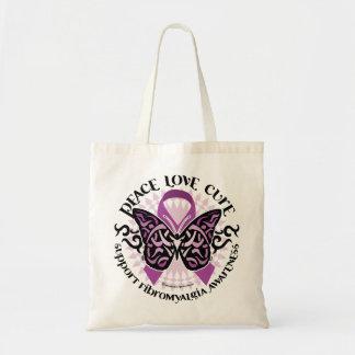Fibromyalgia Butterfly Tribal Canvas Bag