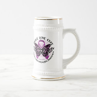 Fibromyalgia Butterfly Tribal Beer Stein