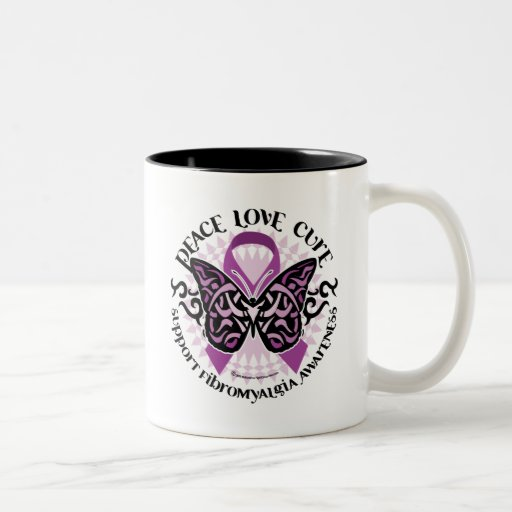 Fibromyalgia Butterfly Tribal Coffee Mugs