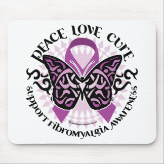 Fibromyalgia Butterfly Tribal Mouse Pad