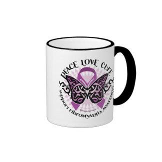 Fibromyalgia Butterfly Tribal Ringer Mug