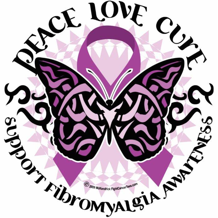 Fibromyalgia Butterfly Tribal Statuette