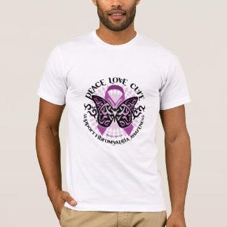 Fibromyalgia Butterfly Tribal T-Shirt