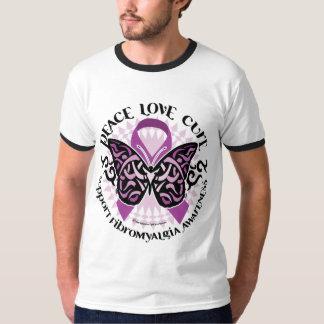 Fibromyalgia Butterfly Tribal T Shirt
