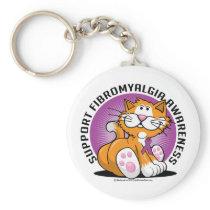 Fibromyalgia Cat Keychain