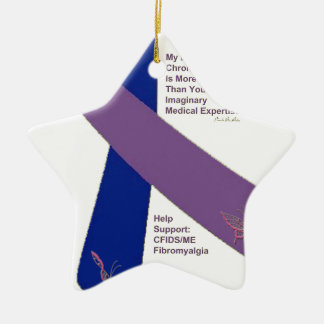 FIBROMYALGIA ~ CFS SUPPORT.png Ceramic Ornament