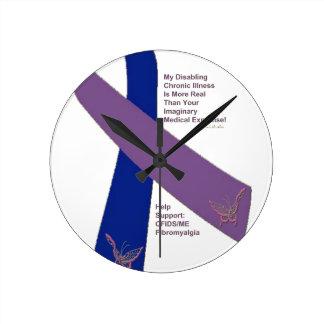 FIBROMYALGIA CFS SUPPORT png Round Clock