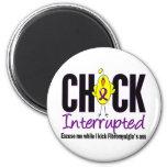 Fibromyalgia Chick Interrupted 2 Inch Round Magnet
