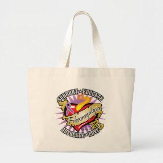 Fibromyalgia Classic Heart Large Tote Bag