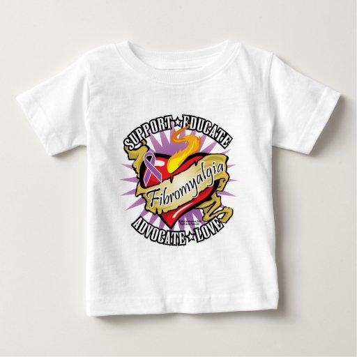 Fibromyalgia Classic Heart T-shirts