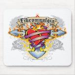 Fibromyalgia Cross & Heart Mousepad