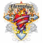Fibromyalgia Cross & Heart Photo Sculpture