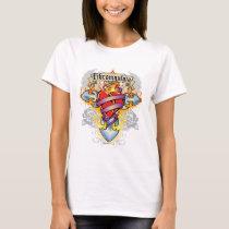Fibromyalgia Cross & Heart T-Shirt