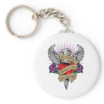Fibromyalgia Dagger Keychain