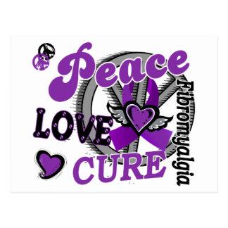 Fibromyalgia de la curación 2 del amor de la paz postal