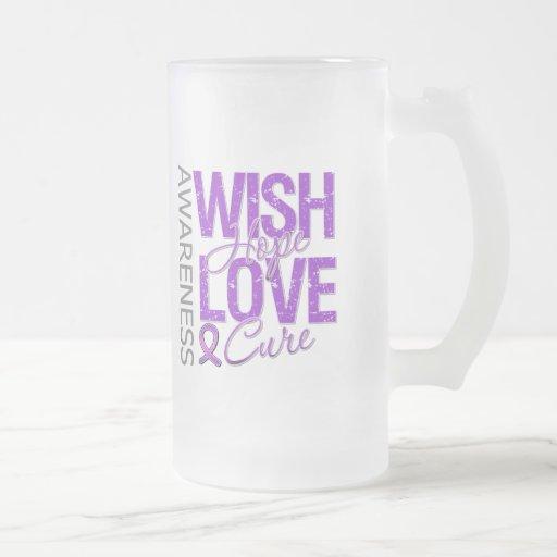 Fibromyalgia de la curación del amor de la esperan taza de café