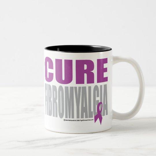 Fibromyalgia de la curación taza de café de dos colores