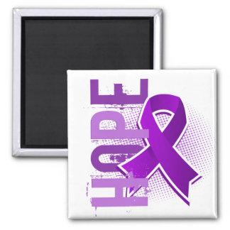 Fibromyalgia de la esperanza 2 imán cuadrado