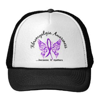 Fibromyalgia de la mariposa 6,1 del tatuaje del gorro