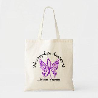 Fibromyalgia de la mariposa 6 1 del tatuaje del Gr Bolsa De Mano