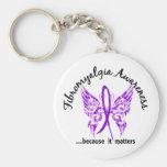 Fibromyalgia de la mariposa 6,1 del tatuaje del Gr Llavero