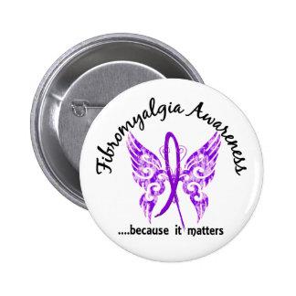 Fibromyalgia de la mariposa 6,1 del tatuaje del Gr Pins