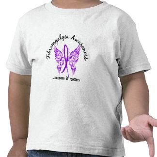 Fibromyalgia de la mariposa 6,1 del tatuaje del Gr Camiseta
