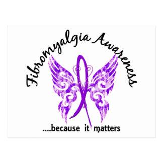Fibromyalgia de la mariposa 6 1 del tatuaje del Gr Postales
