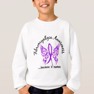 Fibromyalgia de la mariposa 6,1 del tatuaje del playera