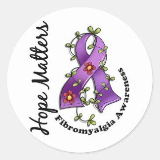 Fibromyalgia de las materias de la esperanza de la pegatinas redondas