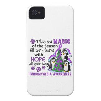 Fibromyalgia de los pingüinos del navidad Case-Mate iPhone 4 funda