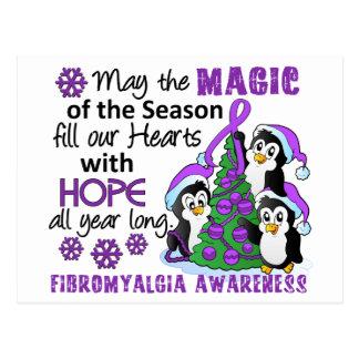 Fibromyalgia de los pingüinos del navidad tarjetas postales